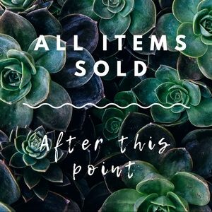 Other - All Items Sold After This Point
